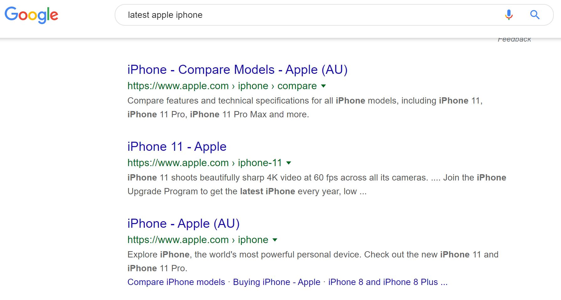 Latest Apple iphone Google Search Results